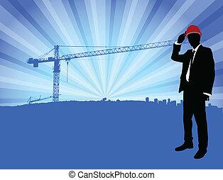前面, 建設, 建築師
