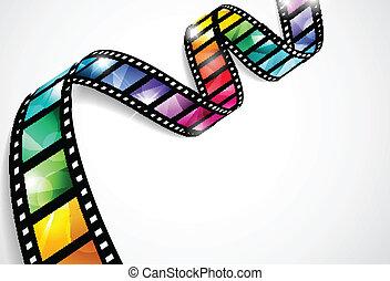 剝去, 鮮艷, 電影
