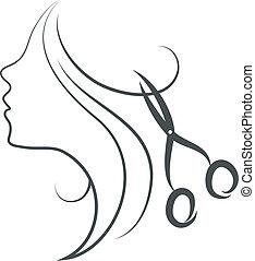 剪刀, 女孩, 設計
