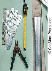剪刀, 措施, 金屬, 磁帶