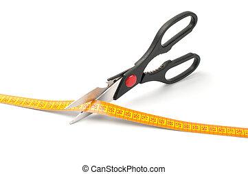 剪刀, 測量, 切