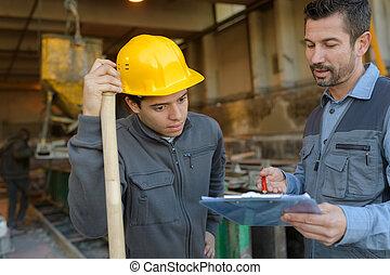 剪貼板, 在上方, 站點, 建設, 討論, 工程師