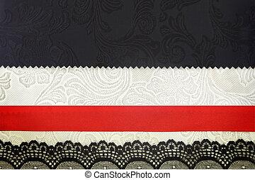 剪貼簿, photobook, 織品, 裝飾, 背景。, 概念