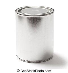 剪, 畫罐, 罐頭, 空白, 路徑, 白色