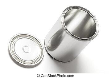 剪, 畫罐, 罐頭, 路徑, 打開