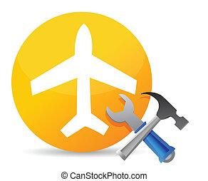 加上, 飛機, 工具, 飛机