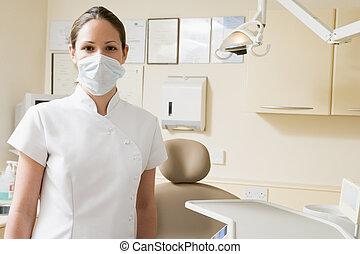 助理, 牙齒, 面罩, 房間, 考試