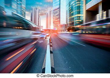 動態, 街道, 現代, 城市