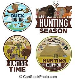 動物打獵, 季節, 獵人, 設備, 打開