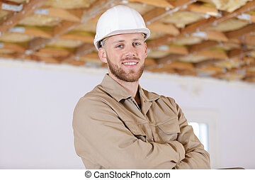 區域, 建造者, 在室內, 工作