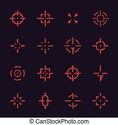 十字准線, 集合, 元素, interfaces, 矢量