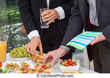 午餐, 吃, 商業界人士