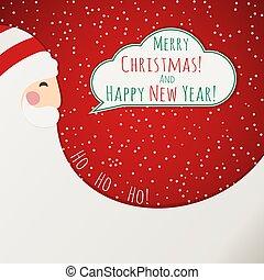 卡片, 克勞斯, 聖誕節, 紅色, 聖誕老人