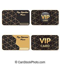 卡片, 大人物, 黑色, 金