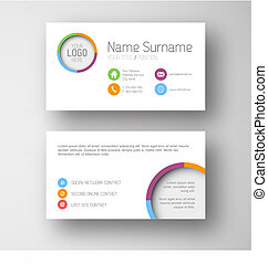 卡片, 接口, 樣板, 白色, 事務, 現代, 用戶, 套間
