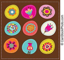 卡片, 漂亮, 問候, 彙整, 裝飾, 花