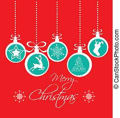 卡片, 葡萄酒, 聖誕節, 紅色, 問候