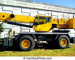 卡車, 機械, 黃色