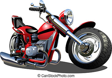卡通, 摩托車