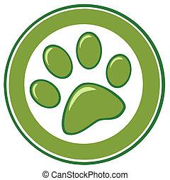 印刷品, 綠色, 腳爪