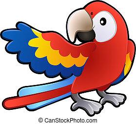 友好, 金剛鸚鵡, 鸚鵡, 插圖, 漂亮