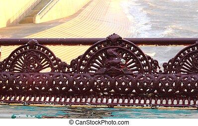 古董, 下來, 長凳, 太陽