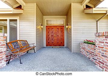 古董, 入口, 門廊, 長凳