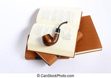 古董, 向上。, 剪, 堆積, 相片, 被隔离, 管子, 書, 路徑, included, 抽煙