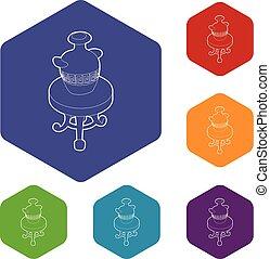 古董, 咖啡, 圖象, hexahedron, 花瓶, 矢量, 桌子, 輪