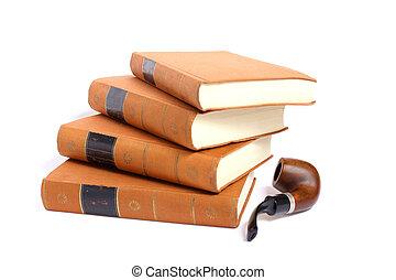 古董, 堆積, 相片, 被隔离, 向上, 書