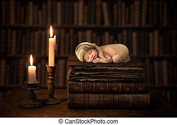 古董, 嬰孩, 書