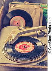 古董, 帶上某种調子, vinyls, 相片, 過濾, 留聲機