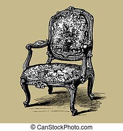 古董, 扶手椅子, 巴洛克