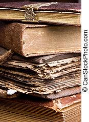 古董, 書, 堆