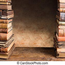 古董, 書, 邊框