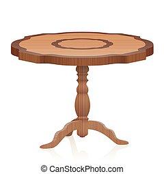 古董, 桌子, 邊, 木制, 家具