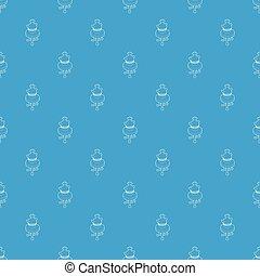 古董, 藍色, 咖啡, 圖案, seamless, 花瓶, 矢量, 桌子, 輪