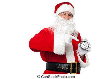 古董, 部分, 聖誕老人, 指, 時間