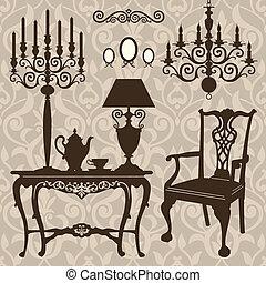 古董, 集合, 家具