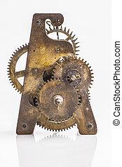 古董, 齒輪, 鐘