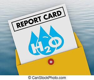 可喝, 資源, 等級, h20, 插圖, 水, 得分, 打掃, 報告卡片, 3d