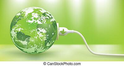 可持續, 矢量, 能量, 綠色, 概念