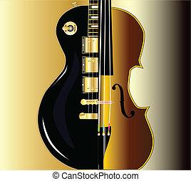 吉他, 提琴, morph