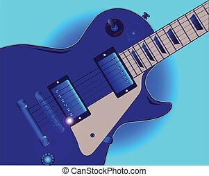 吉他, 藍色