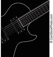 吉他, 關閉, 電, 向上