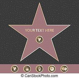 名聲, 好萊塢, 步行, 星