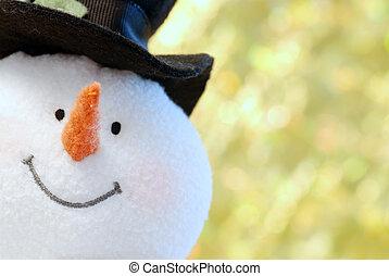 向上關閉, 雪人, 臉