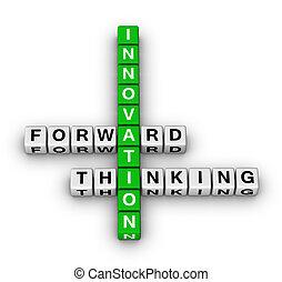 向前, 認為, 革新