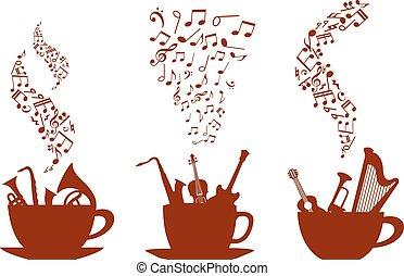 咖啡杯子, 音樂