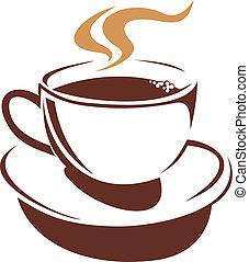 咖啡茶杯, 蒸發, 茶, 熱, 或者